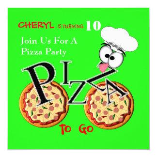 Carte Pizza d'amusement à aller partie orientée