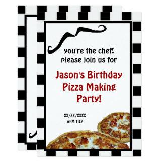 Carte Pizza faisant l'invitation de fête d'anniversaire