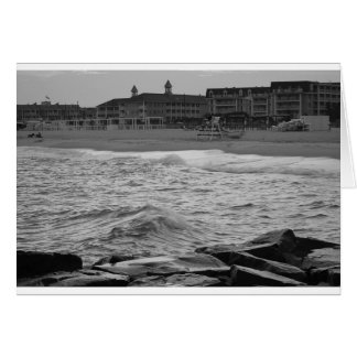 Carte Plage de Cape May dans B&W