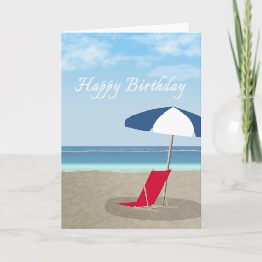 Carte Plage De Joyeux Anniversaire Zazzle Be