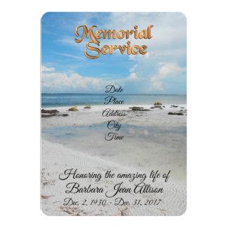 Carte Plage d'invitation de cérémonie commémorative