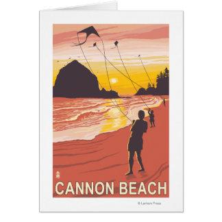 Carte Plage et cerfs-volants - plage de canon, Orégon