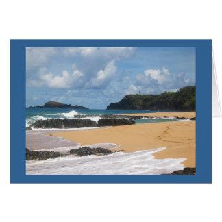 Carte Plage secrète Kauai Hawaï