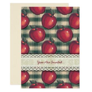 Carte Plaid vert de pommes rouges