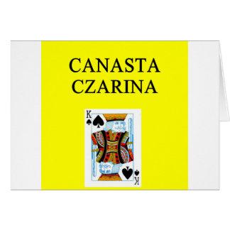 Carte Plaisanterie de CANASTA