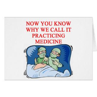 Carte Plaisanterie de DOCTEUR