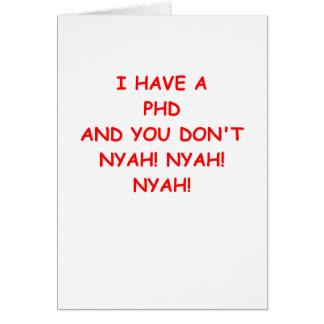 Carte Plaisanterie de PHD