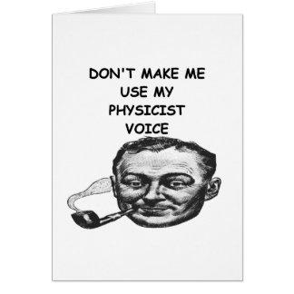 Carte plaisanterie de physicien