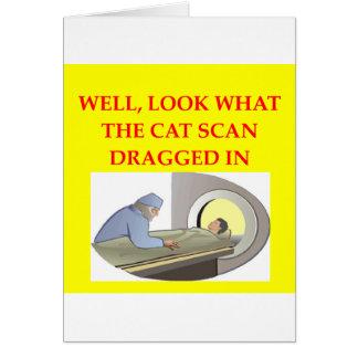 Carte plaisanterie de radiologie