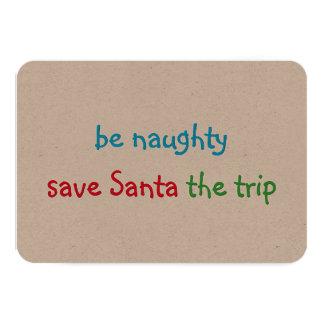 Carte Plaisanterie faite sur commande drôle de Père Noël