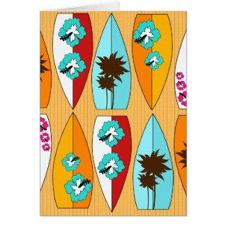 Carte Planches de surf sur le thème de plage d'été de