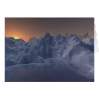 Carte planète de glace