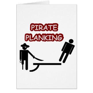 Carte Planking de pirate