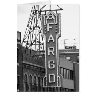 Carte Plaquette de théâtre de film de Fargo