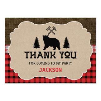 Carte plate de Merci d'anniversaire de garçons de Carton D'invitation 11,43 Cm X 15,87 Cm