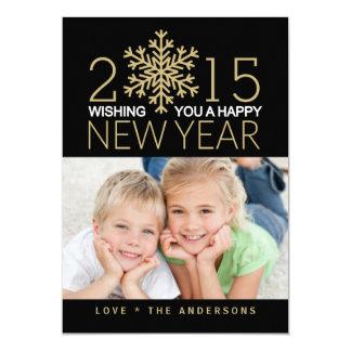 Carte plate de photo de vacances de bonne année carton d'invitation  12,7 cm x 17,78 cm