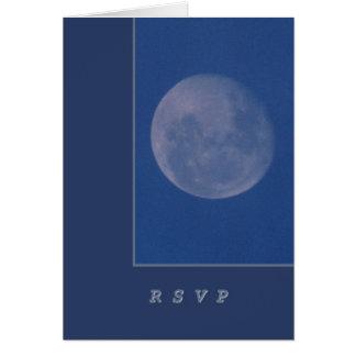 Carte Pleine lune dans le ciel nocturne