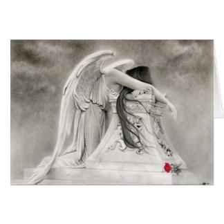 Carte pleurante d'ange
