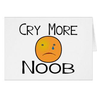 Carte Pleurent plus de Noob