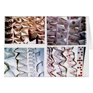 Carte Plis de papier manoeuvrés d'origami