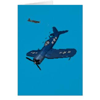 Carte Plongée de corsaire de la MARINE f4u