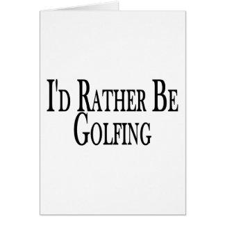 Carte Plutôt joue au golf