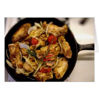 Carte Poêle méditerranéenne de poulet