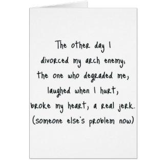 Carte Poème de divorce
