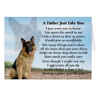 Carte Poème de père de chien de berger allemand