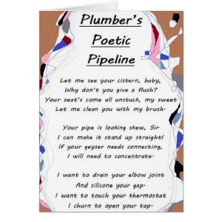 Carte poétique de la canalisation du plombier