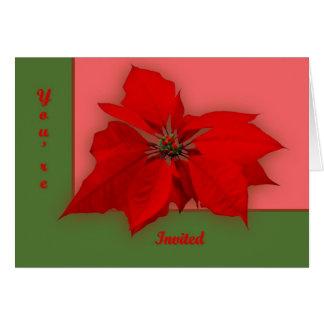 Carte Poinsettia