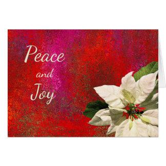 Carte Poinsettia blanche sur Noël rouge d'abrégé sur