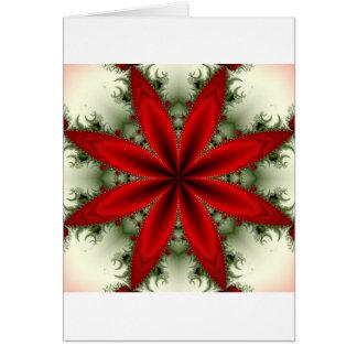 Carte Poinsettia de fractale