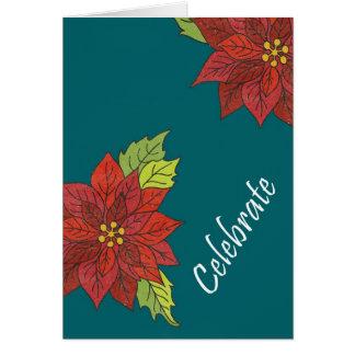 Carte Poinsettia douce de Noël