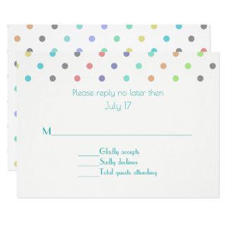 Carte Point de polka coloré de confettis épousant la