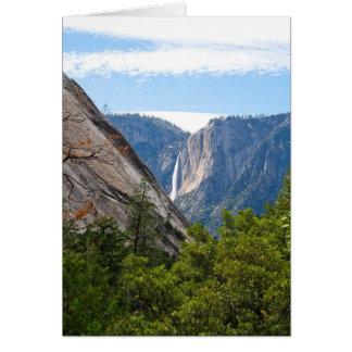 Carte Point de Yosemite Falls et de glacier (message