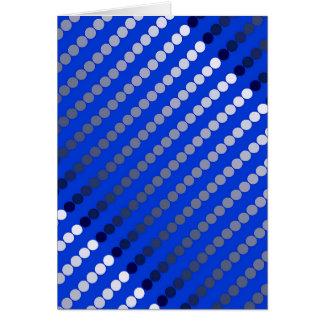 Carte Points de satin - bleu de cobalt et étain