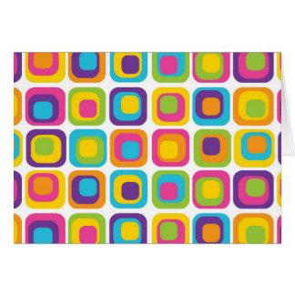 Carte Points et cadeaux modernes colorés de motif de