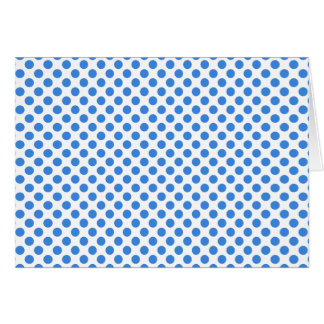 Carte Pois bleu avec l'arrière - plan personnalisable
