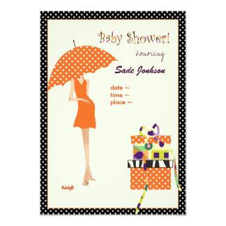 Carte Pois d'orange de douche de maman bébé de hanche