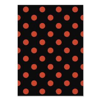 Carte Pois - rouge en pastel foncé sur le noir