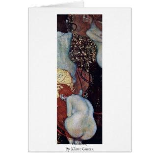 Carte Poisson rouge, par Klimt Gustav