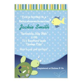 Carte Poissons de récif de tortue sous l'invitation de