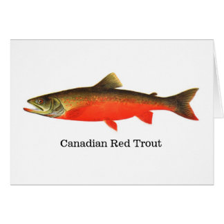 Carte Poissons rouges canadiens de truite
