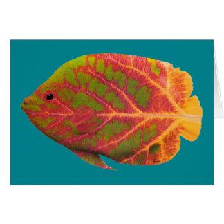 Carte Poissons tropicaux 1 de feuille d'Aspen