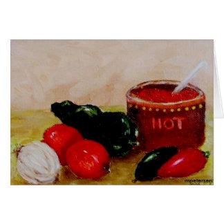 Carte Poivrons et tomates de piment pour le Salsa