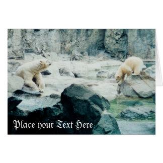 Carte polaire personnalisable de petit animal de