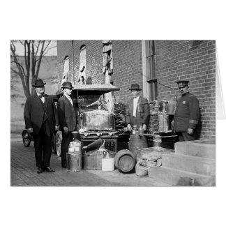 Carte Police avec confisqué toujours, 1922