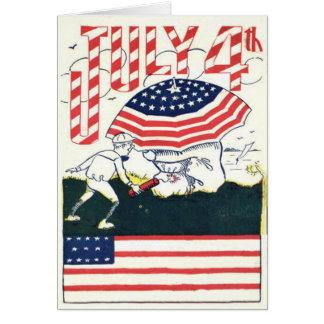 Carte Polisson de pétard de feux d'artifice de drapeau