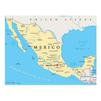 Carte politique du Mexique